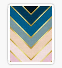 Chevron golden Sticker