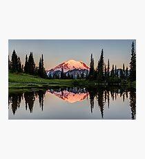 Glowing Peak at Dawn Photographic Print