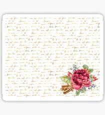 Elegant Christmas - golden messages Sticker