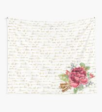 Elegant Christmas - golden messages Wall Tapestry