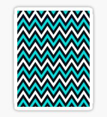 Blue Chevron Sticker