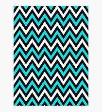 Blue Chevron Photographic Print