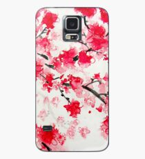 Red Cherry Blossoms Case/Skin for Samsung Galaxy