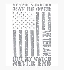 My Watch Never Ends - US Veteran Photographic Print