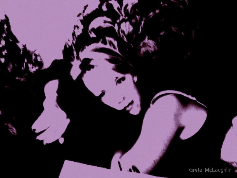 Study in Black and Purple by Greta  McLaughlin