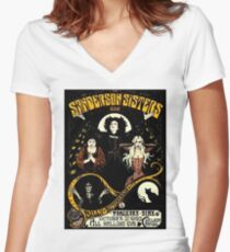 Sanderson Sisters Tour Poster T-Shirt Women's Fitted V-Neck T-Shirt