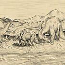 Classic Dinosaurs by thekohakudragon