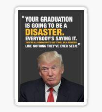 Donald Trump Disaster Graduation Card Sticker