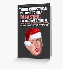 Weihnachtsunfall - Donald Trump Grußkarte