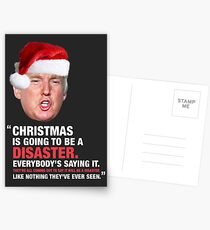 A Donald Trump Christmas Disaster Postcards
