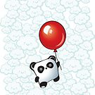 Kawaii Little Panda on the Balloon by MaShusik