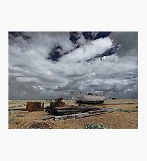 Decay & Skyscape, Dungeness, Kent Photographic Print