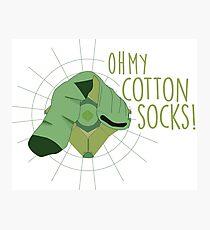 Oh my COTTON SOCKS Photographic Print