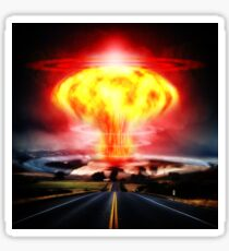 Nuclear Explosion Cool Digital Art Sticker