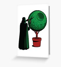 Clipping bushes using the dark side Greeting Card