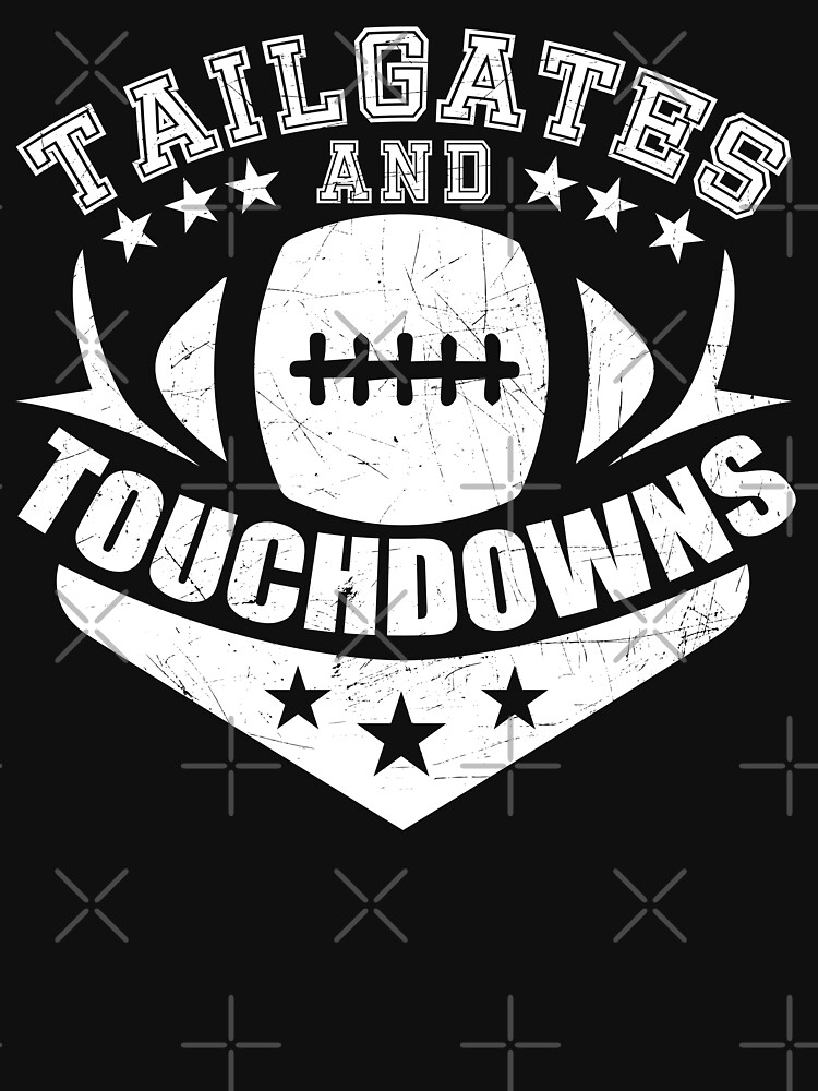 Tailgates And Touchdowns Tee Vintage Football by Distrill