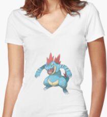 Feraligatr Women's Fitted V-Neck T-Shirt