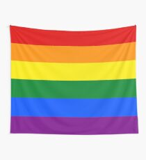 Gay Pride Rainbow Flag Wall Tapestry