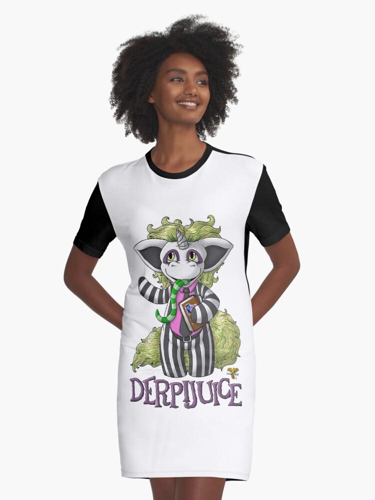 DerpiJuice Graphic T-Shirt Dress Front