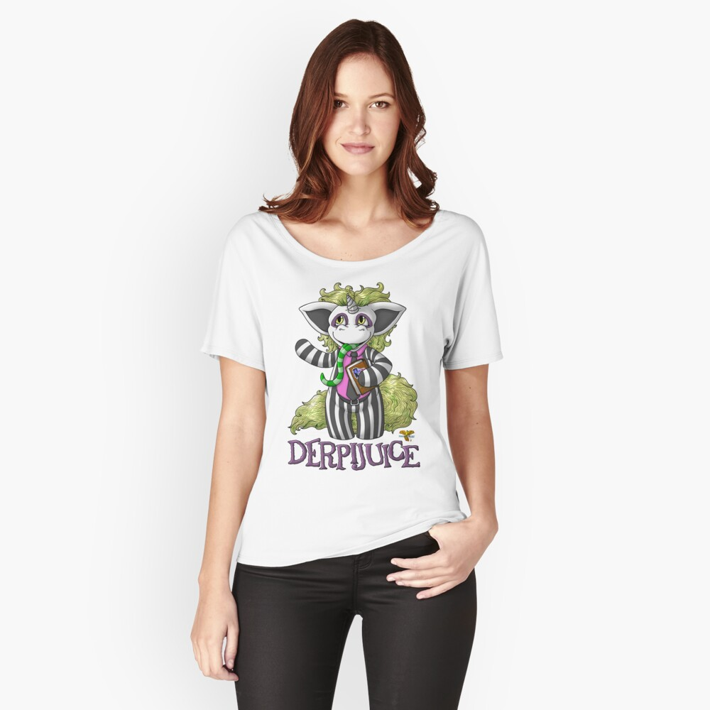 DerpiJuice Women's Relaxed Fit T-Shirt Front