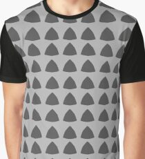 Grey Pattern Triangles Graphic T-Shirt