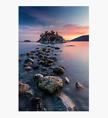 Rock Hopping at High Tide Photographic Print