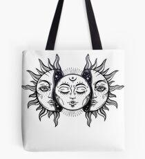Bolsa de tela Eclipse Solar Vintage Sol y Luna