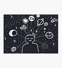 Starry Thoughts (clear background) Photographic Print