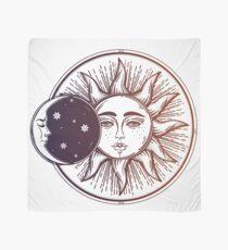 Pañuelo Eclipse Solar Vintage: Sol, Luna y Estrellas