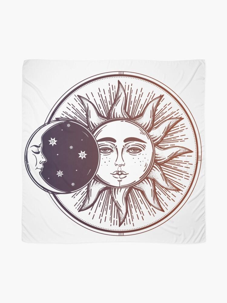 Alternative Ansicht von Vintage Sonnenfinsternis: Sonne, Mond und Sterne Tuch