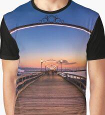 White Rock Pier at Dusk Graphic T-Shirt