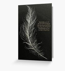 White Feathers  Greeting Card