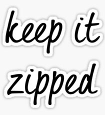 Ruby Redfort Inspired Keep it Zipped Sticker