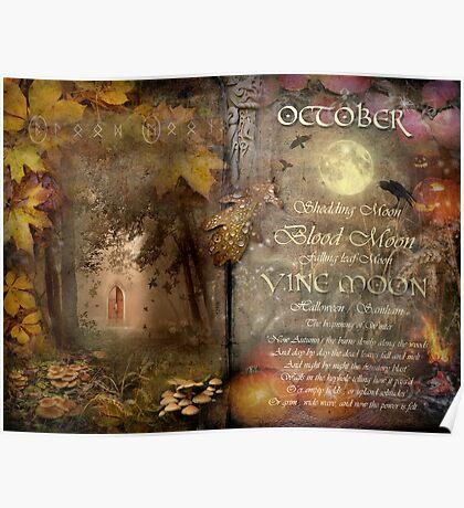 October - Vine Moon Poster
