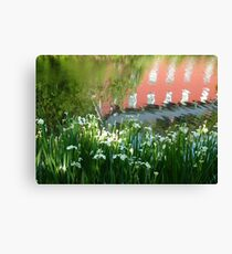 Abstract at Weisport Canal  Canvas Print