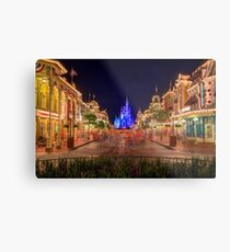 Nighttime On Main Street USA Metal Print
