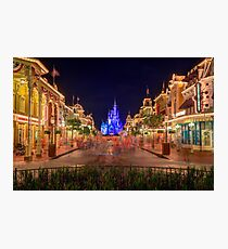 Nighttime On Main Street USA Photographic Print