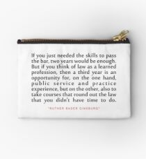 """If you just...""""Ruth Bader Ginsburg"""" Inspirational Quote Studio Pouch"""
