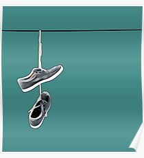 Shoes on a Wire Poster