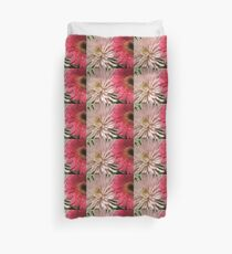 pretty light pink chrysanthemum and pink daisy flowers picture. Duvet Cover