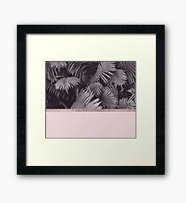 Rose gold ferns Framed Print