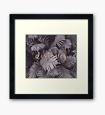 Rose gold discover - sepia fern Framed Print