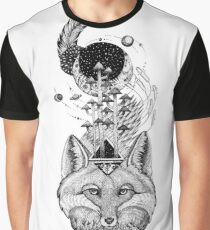 Fox Space Forest Graphic T-Shirt