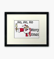 Ho Ho Ho Merry Xmas Framed Print