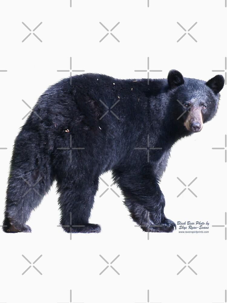 BLACK BEAR Photo T-shirt by RavenPrints