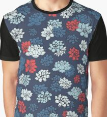 Water Lilies Pattern Graphic T-Shirt