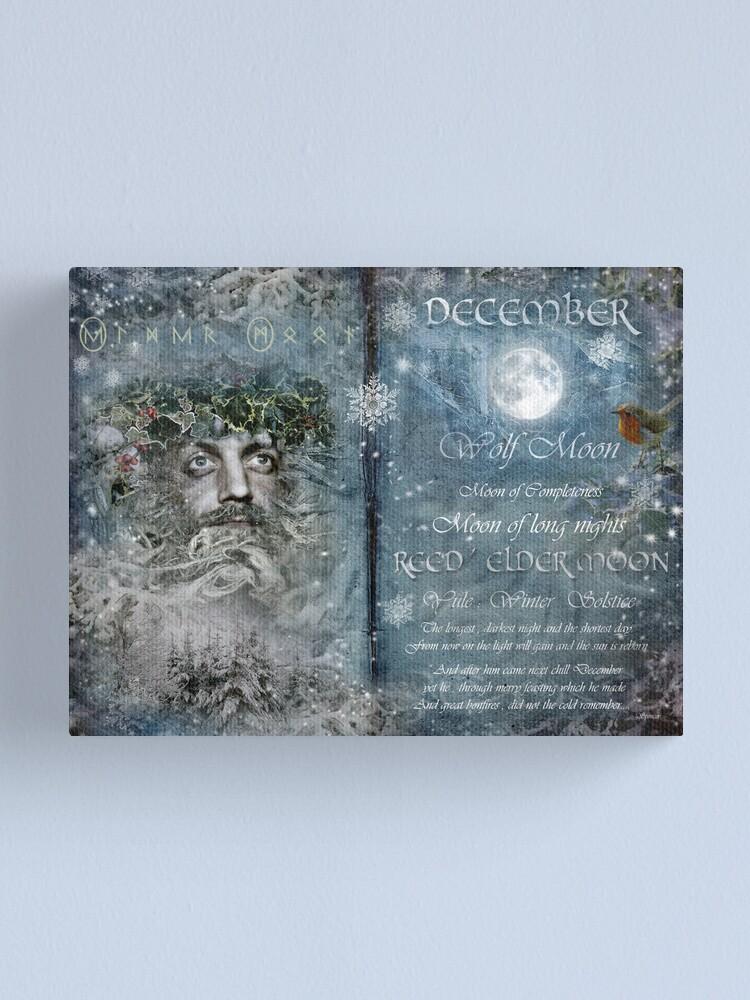 Alternate view of December : Reed/Elder Moon Canvas Print