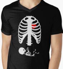 e0f65e8077cc2 X Ray Maternity Shirt Maternity Skeleton Ribs Tshirt Boy V-Neck T-Shirt