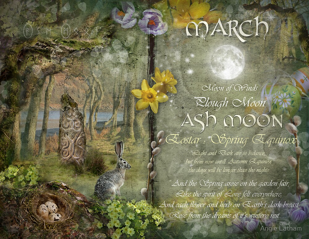 Quot March Ash Moon Quot By Angie Latham Redbubble