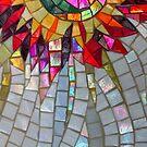Star Flower,  photography of shiny mosaic - JUSTART © by JUSTART